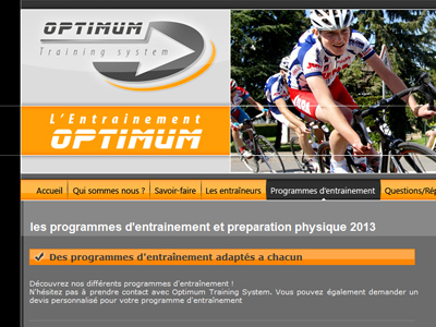 Optimum Training System : Entrainement sportif / coaching