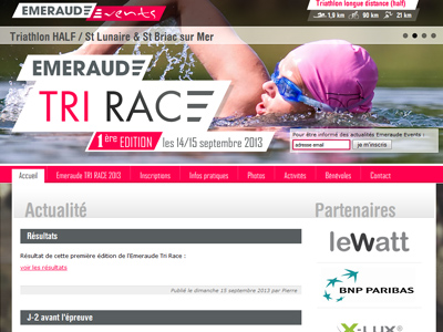 Emeraude Events : Triathlon de St Lunaire